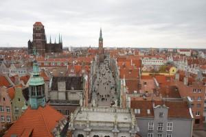 Widok na Długą w Gdańsku
